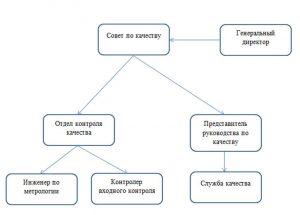 Пример схемы руководства и управления качеством продукции военно-технического назначения